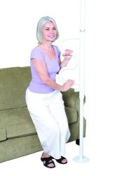 Buy ceiling aids products - The Curve Security Pole White Aids to Daily Living