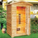 "Product Photo: Infrared Heat Outdoor Sauna 3 Person, 60""D x 49""W x 75""H"